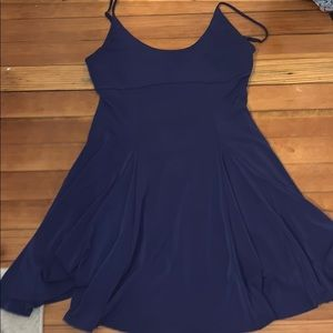 Electric blue skater dress